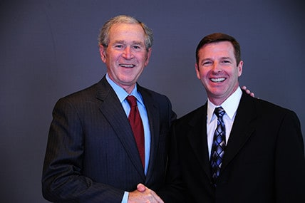 Red carpet with George W. Bush
