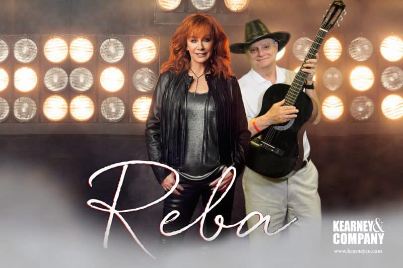 "A participant ""jams"" with Reba for this Nashville green screen photo booth"