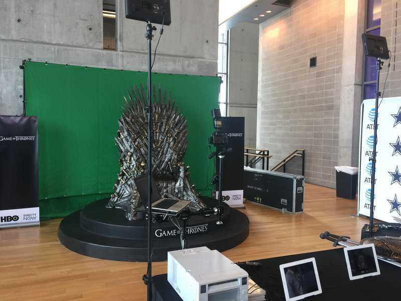 HBO Dallas green screen photo booth