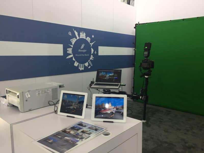 A Houston green screen photography booth at Wings Over Homestead for Honda Jet.
