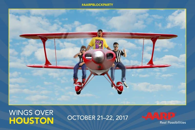 A Houston green screen photo booth for AARP at Wings Over Homestead