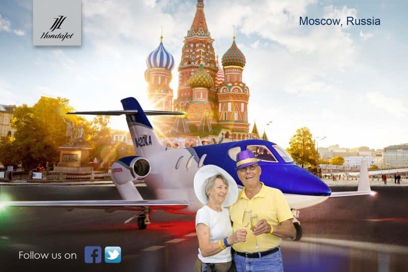 "A Houston green screen photo booth for Honda Jet where participants could decide on a world wide travel ""destination."""