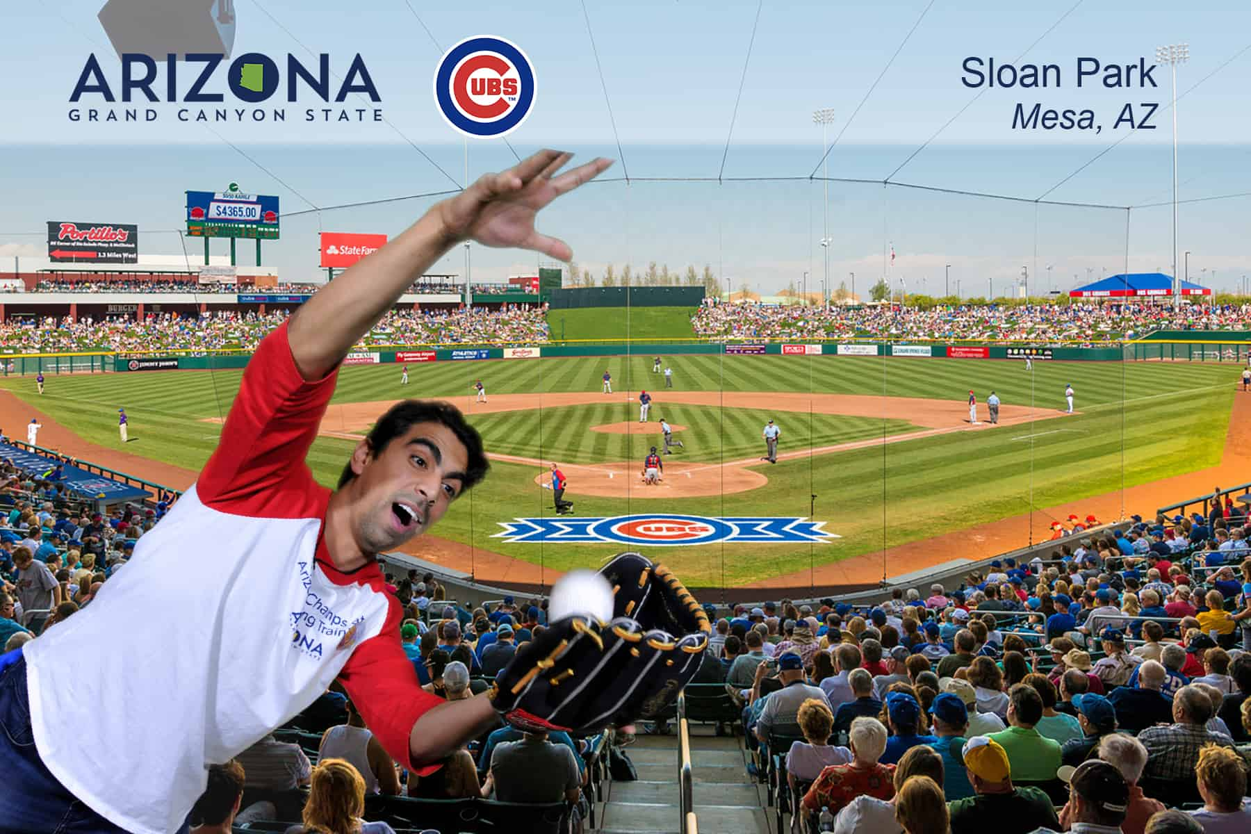 A fan and a foul ballChicago Experiential Photo marketing event with Arizona Office of Tourism.