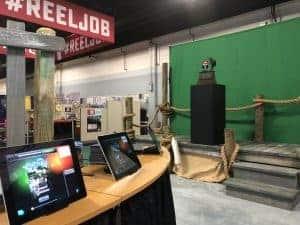 A large experiential photo marketing booth at Bassmasters near Atlanta.