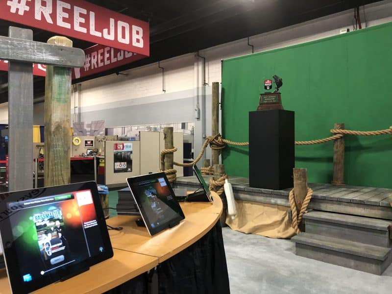 A large experiential photo marketing booth at Bassmasters near Atlanta.