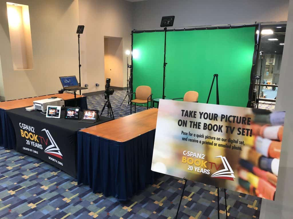 A Miami green screen photo booth for C-span at a national book festival