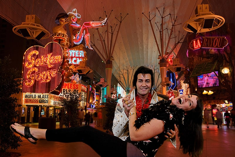 Las Vegas Green Screen Photo Booth with Elvis
