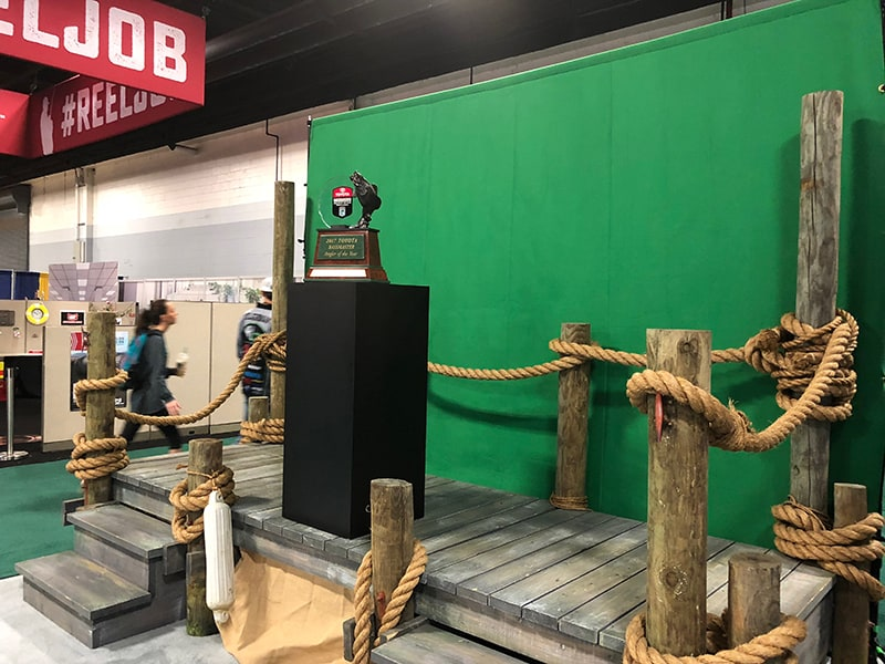 Experiential green screen photo marketing set at Bassmaster Classic.