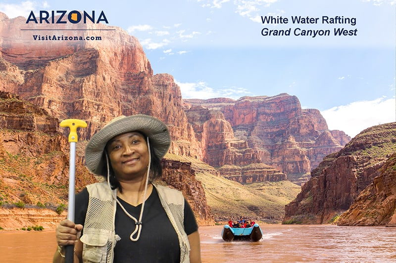 Experiential green screen photo booth White Water Rafting.