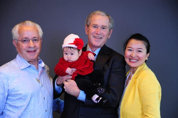 Denver red carpet photography with George W. Bush