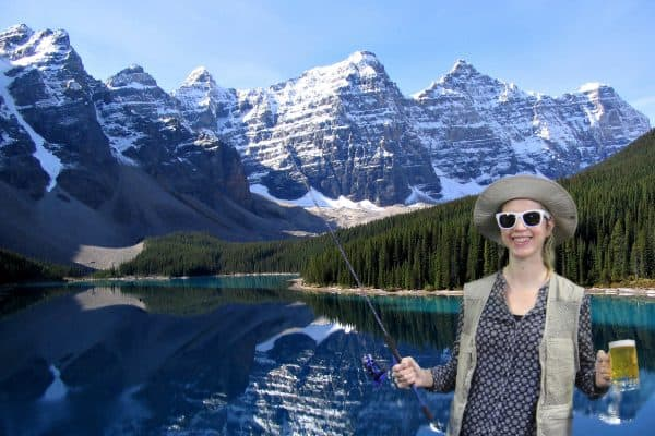 Denver Green screen Photo Booth fishing in the Rocky Mountains