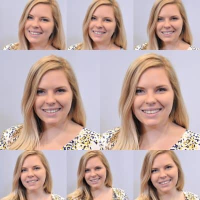 Boston headshot photo booth with auto-correct automatically touches up participants.
