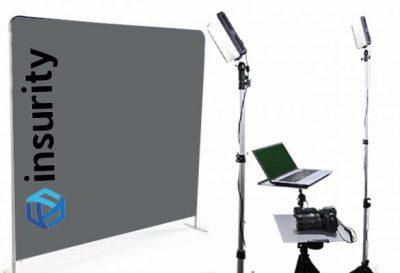 Houston Headshot Photo Booth with customized background