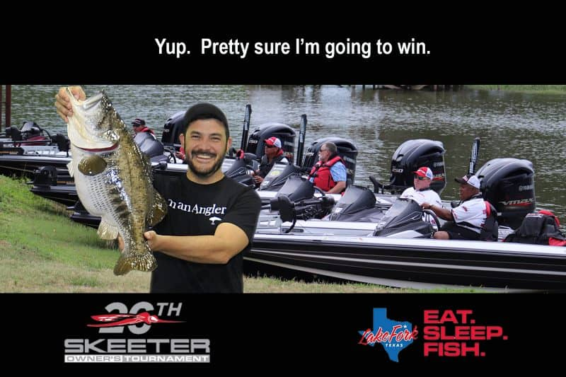 Dallas Green Screen Photo Booth experiential photo marketing for Skeeter Boats at Owner's Tournament.