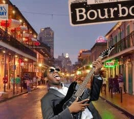 New Orleans green screen photo booth on Bourbon Street