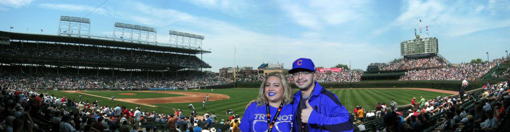 Chicago greenscreen photo booth at Wrigley Field