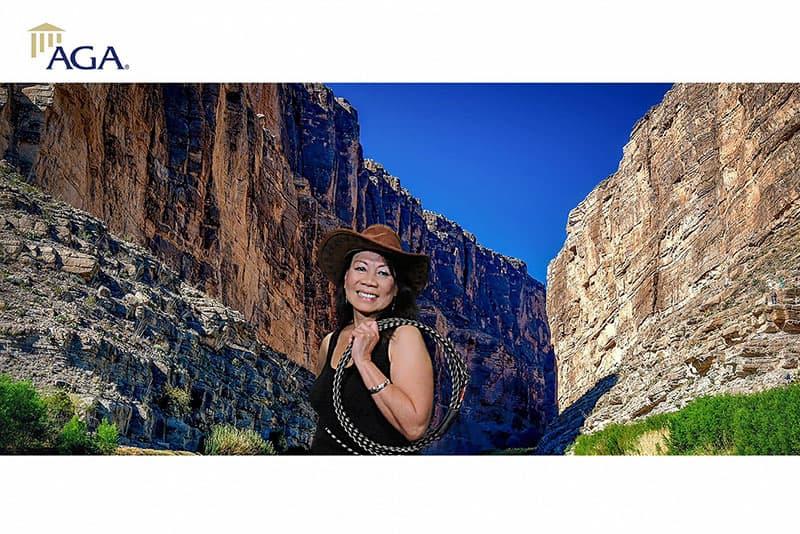 Dallas greenscreen photo booth for AGA