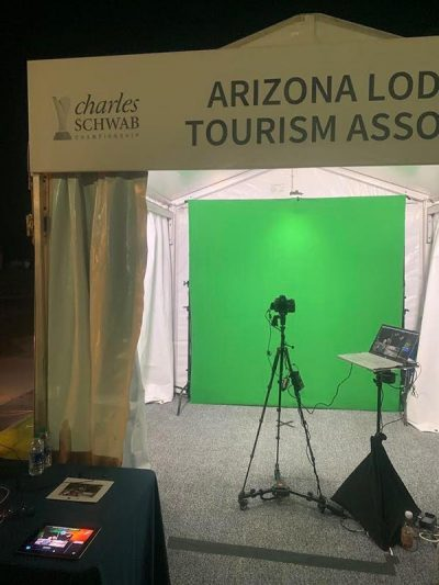 Phoenix greenscreen photo booth at Charles Schwab Golf Championship