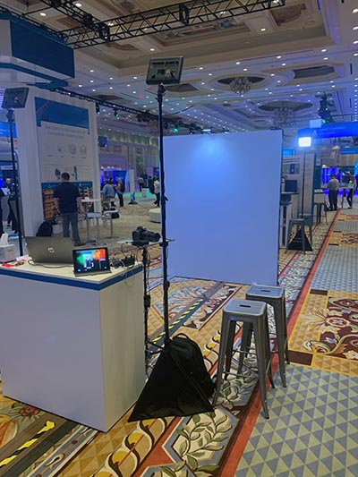 a Dallas headshot photo lounge for Autodesk at an event at the Gaylord Texan