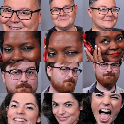 Four washington dc headshot photo booth examples from a National Harbor show