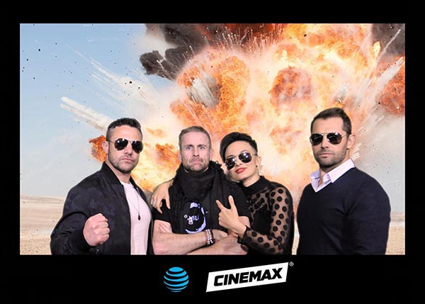 Phoenix red carpet photography for Cinemax with the cast of Strikeback