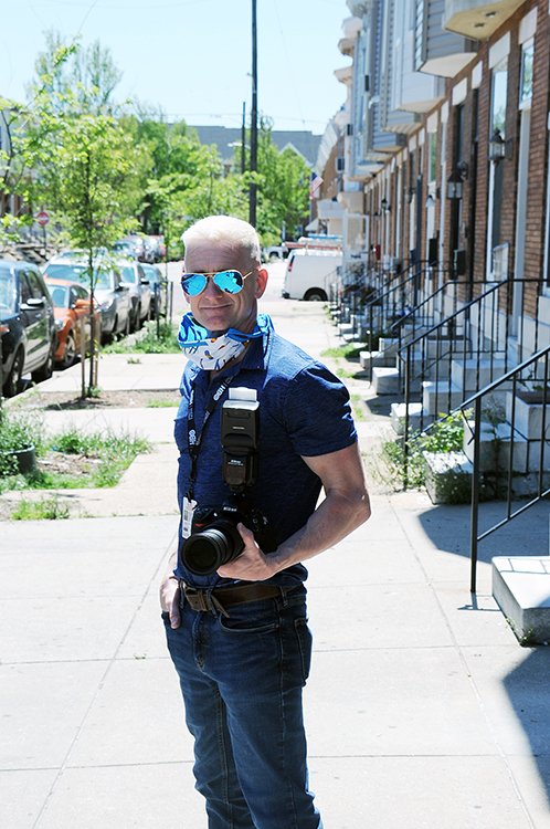 Photographer Mike Gatty, Owner of US Event Photos, photographing in Baltimore during the COVID-19 Pandemic