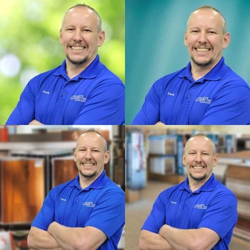Philadelphia green screen photography headshot collage