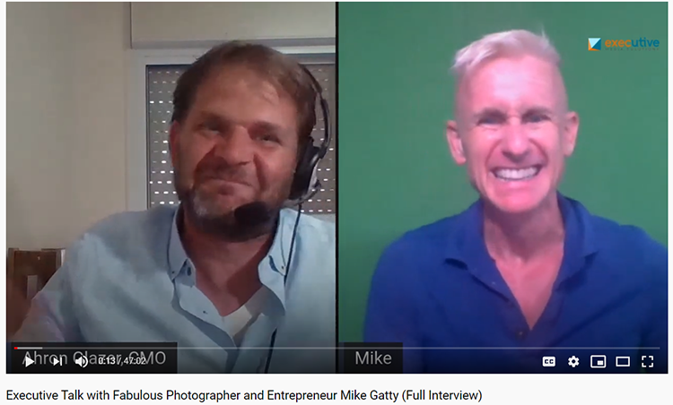 Podcast with green screen photographer Mike Gatty
