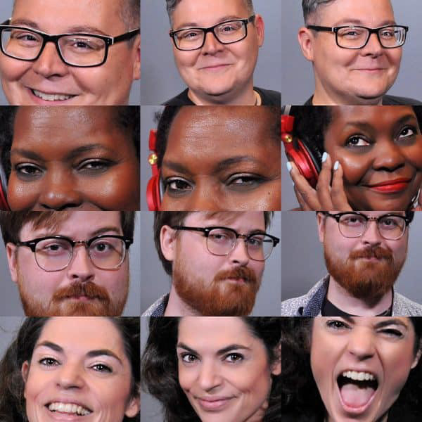 Collage of Baltimore headshot photography