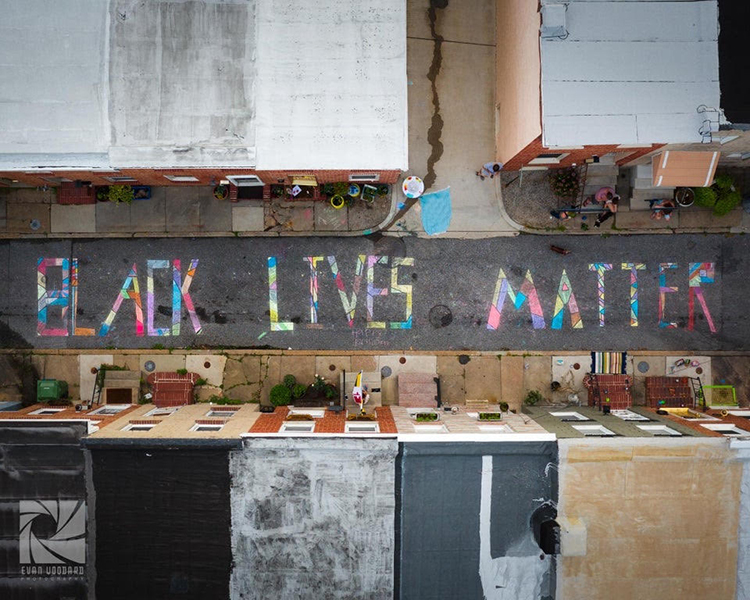 Black Lives Matter Baltimore Street Mural