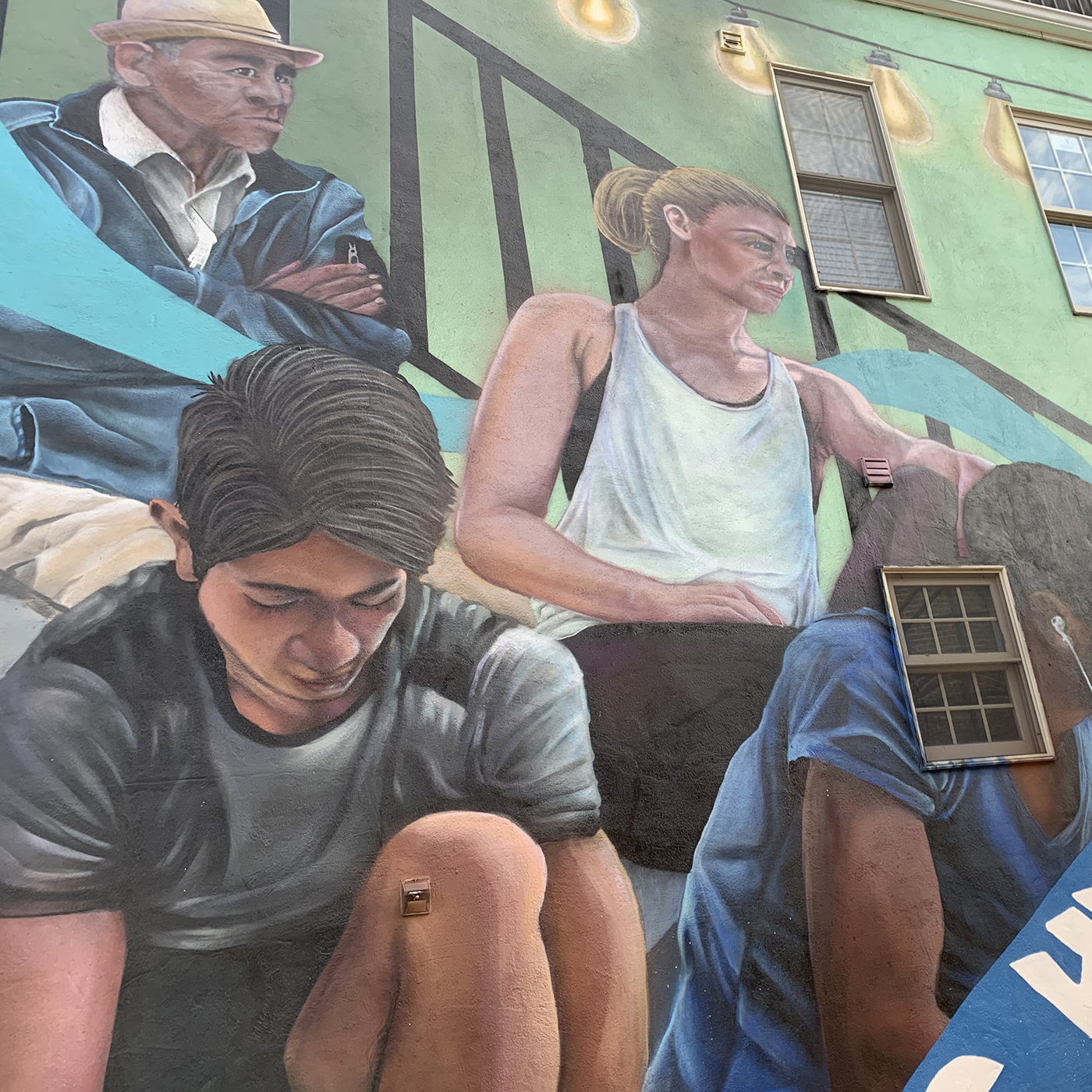 A Baltimore street mural in Patterson Park