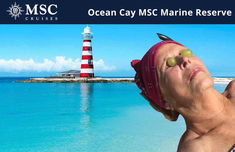 Virtual photo booth image for MSC Cruises