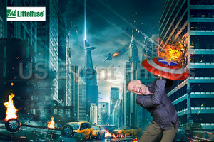 Mike as an Avenger on a green screen photo booth set