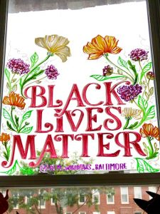 Black Lives Matter Window Mural