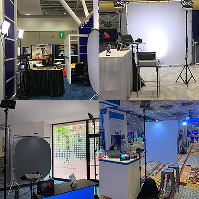 Houston headshot photo booths at conventions