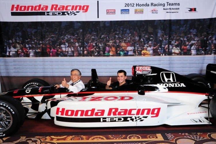 Mario Andretti's Indycar at Honda Dealer's Show