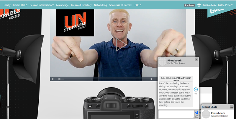 Virtual Photo Booth Home Page example