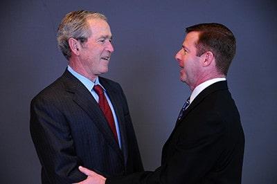 Washington DC convention photographers with George W Bush